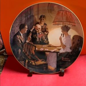 Norman Rockwell decor plate
